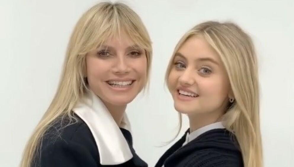 MOR OG DATTER: Supermodellen Heidi Klums datter Leni Klum gjør modelldebut på forsida av tyske Vogue. Foto: Skjermdump fra Instagram