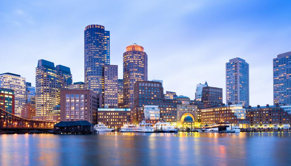BOSTON: Den amerikanske byen Boston i USA hvor arrangementet ble holdt i februar. Nå knyttes 245 000 corona-tilfeller til konferansen, ifølge en ny studie. Foto: Shutterstock/NTB.