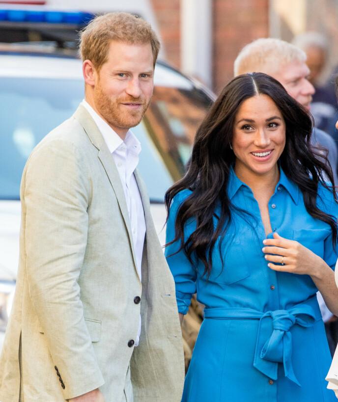 SPENNENDE TID I MØTE: Hertuginne Meghan og prins Harry skal bli podkastere for første gang. Foto: Splash News / NTB