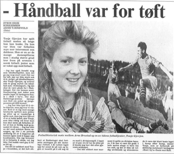Faksimile: Aftenposten, lørdag 26. oktober 1985