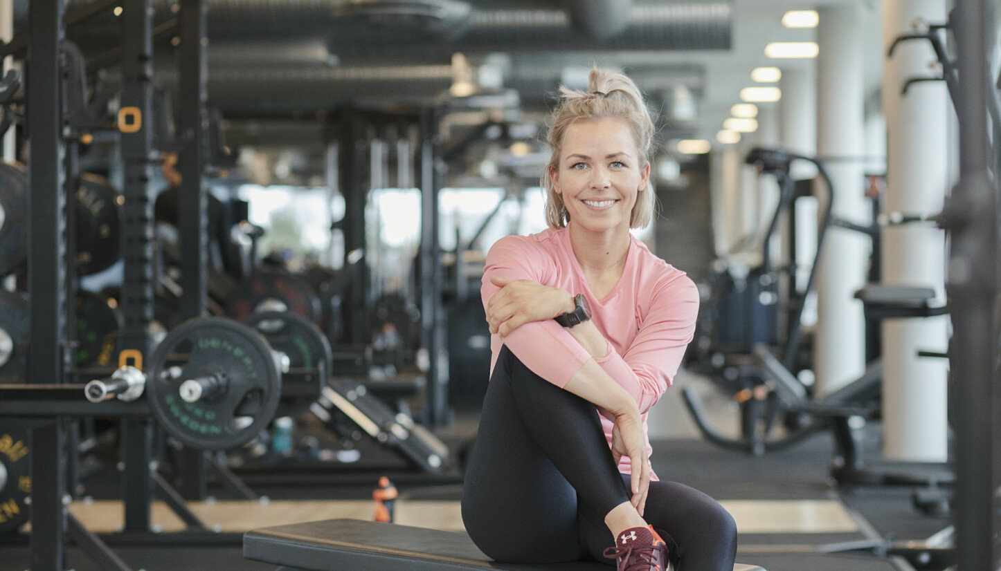 EFFEKTIVT: Desirée Andersen hjelper andre med både trening og kosthold.