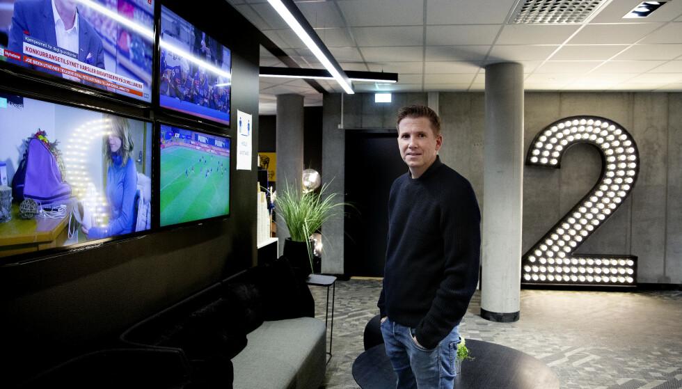 TILBAKE: Kasper Wikestad er tilbake på jobb i TV 2s lokaler i Bjørvika. Foto Kristin Svorte