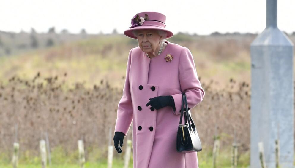 HÅNDVESKE: Dronning Elizabeth er hyppig å se med flotte tilbehør. Spesielt håndveska lar hun aldri bli igjen hjemme. Foto: Ben Stansall / Pool via REUTERS / NTB