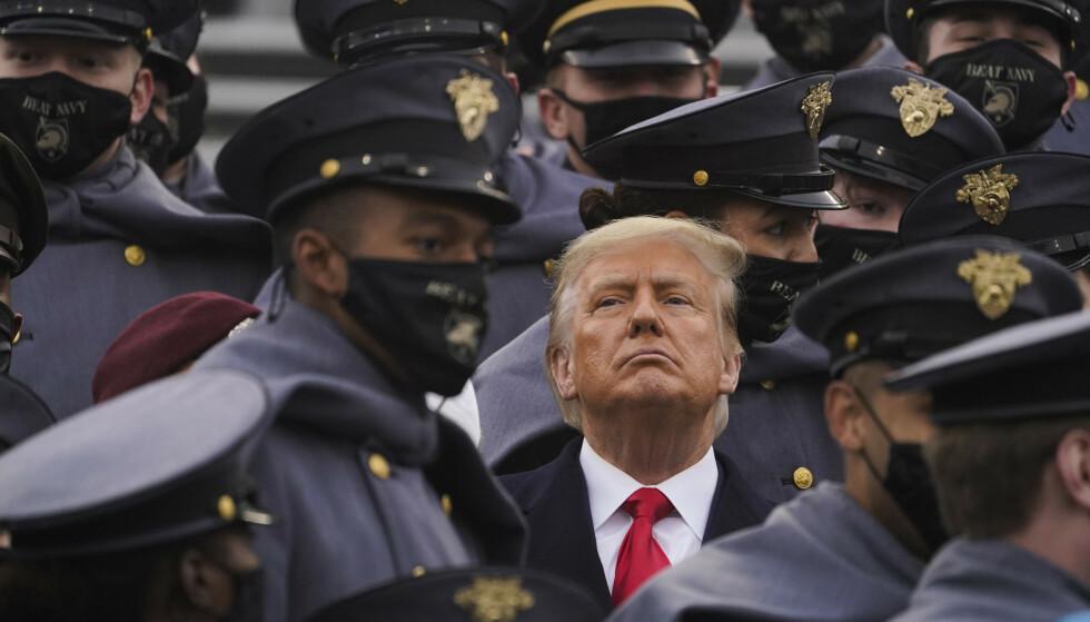 TAUS: USAs president, Donald Trump, har ennå ikke sagt et ord om det massive cyberangrepet, som har rammet landet. Foto: AP Photo/Andrew Harnik