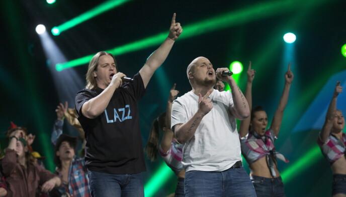 MELODI GRAND PRIX: «Staysman & Lazz» kom på fjerdeplass i den norske finalen i 2015. Foto: Sveinung Ystad / Dagbladet