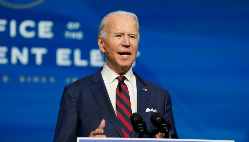 Besøksleder: Joe Biden. Foto: Alex Edelman / AFP