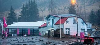 Enormt jordskred. By på Island evakuert