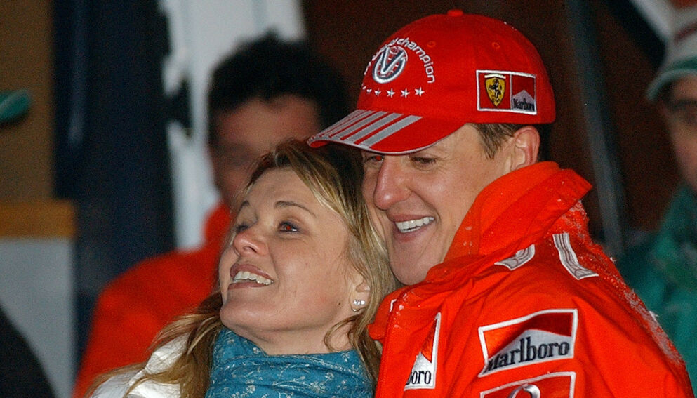 HYLLES: Corrina Schumacher hylles for sin takketale under en prisutdeling forrige uke. Foto: NTB