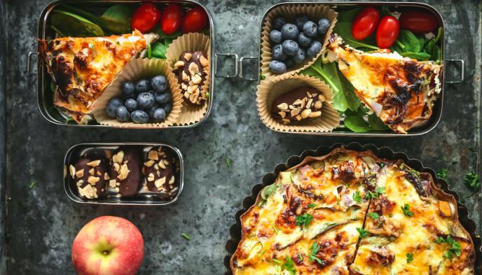 Lompepai og sunne snacker til lunsj?