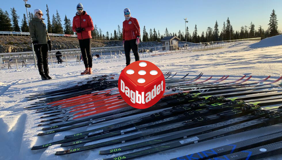 TESTKLARE: Både journalister, eksperter og ski er klare til å ta fatt på årets felleskitest - tradisjonen tro.AS Foto: Berit B. Njarga