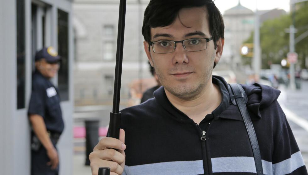 IKKE POPULÆR: Martin Shkreli sitter fengslet og er blitt omtalt som USAs mest forhatte mann. Foto: AP Photo/Seth Wenig, File