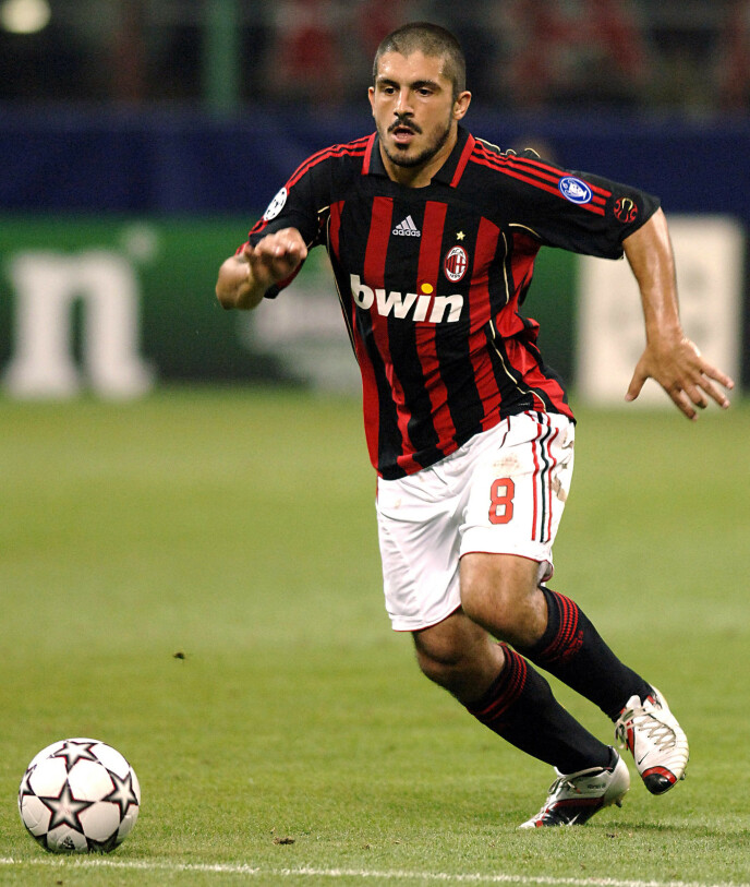 PROFIL: Gennaro Gattuso var en knalltøff midtbanespiller i AC Milan fra 1999 til 2012. Foto: NTB