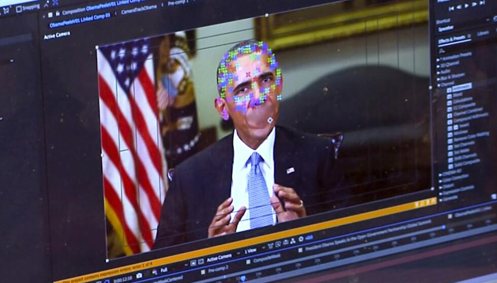 DEEPFAKE: Hva om en president kan si det du vil? Bilder av Barack Obama ble i 2018 brukt av Buzzfeed for å illustrere hvordan teknologien kan forfalske videoer av kjente personer, skriver innsenderen. Foto: AP/NTB