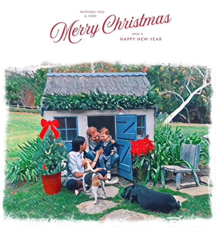 JULEKORT: Familien publiserte dette julekortet den 23. desember. Foto: Duke and Duchess of Sussex / REUTERS, NTB