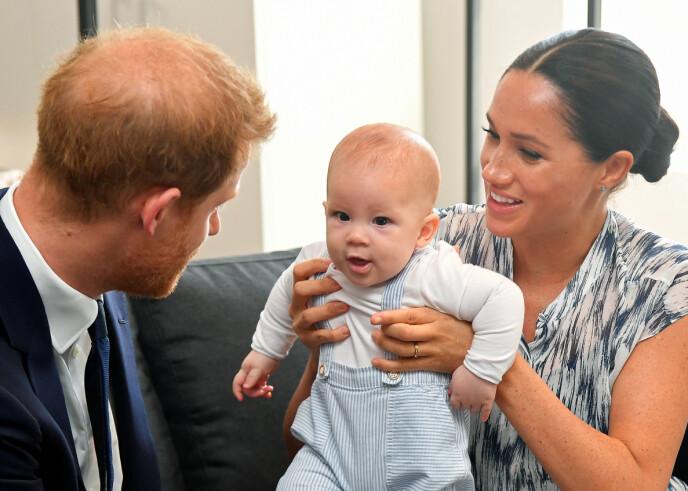 YNDIG: I mai fyller Archie Harrison Mountbatten-Windsor hele to år. Nå, rett før det nye året begynner, deler han en nyttårshilsen med folket. Her fotografert i fjor sommer. Foto: NTB
