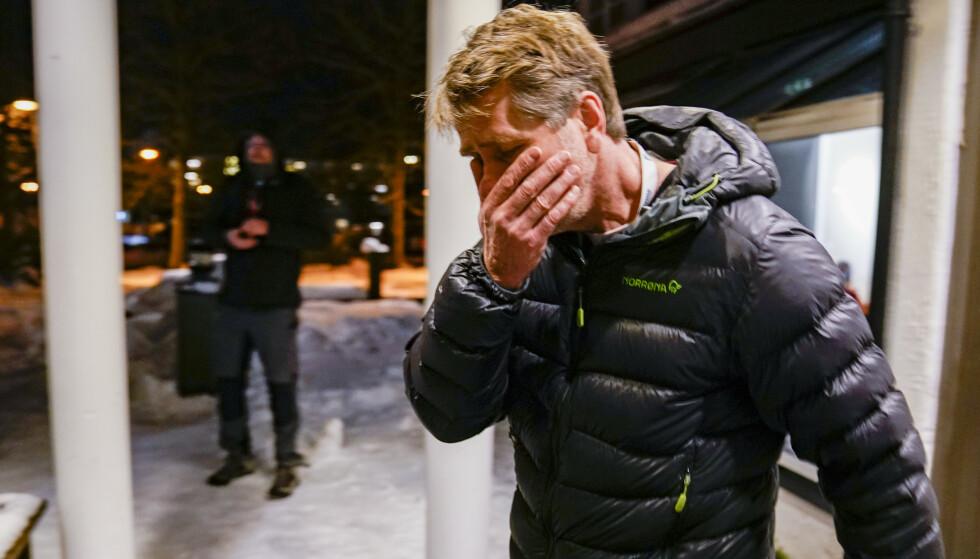 BERØRT: Gjerdrum-ordfører Anders Østensen forteller at situasjonen er tung, og at han håper det fortsatt er mulig at antallet savnede går ned. Foto: Stian Lysberg Solum / NTB