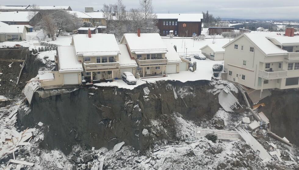 RASOMRÅDET: Bilder fra NVE viser de enorme ødeleggelsene so har rammet Gjerdrum kommune. Foto: Foto: Jaran Wasrud/NVE