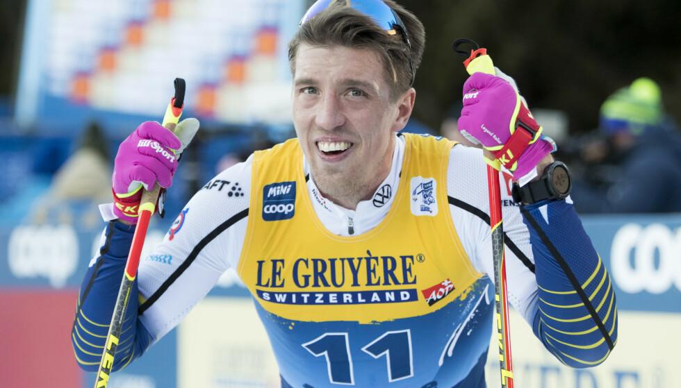 SLITT: Calle Halfvarsson har slitt så langt i årets Tour de Ski. Foto: Terje Pedersen / NTB