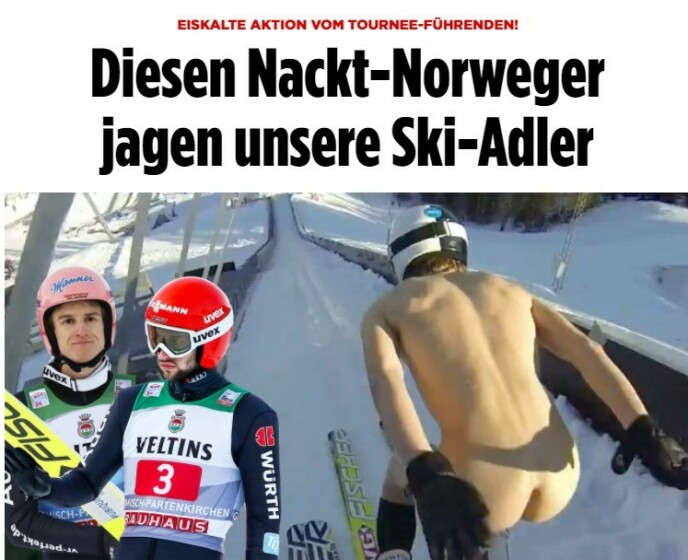 TYSKLAND: - Våre hoppere jager den nakne nordmannen, skriver Bild.