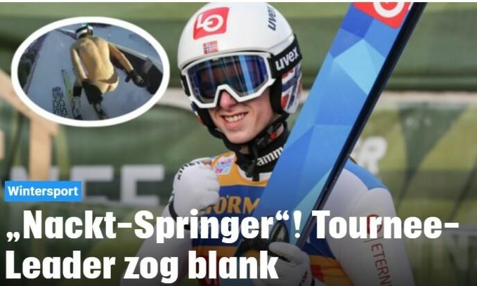 ØSTERRIKE: - Nakenhopper! Hoppukelederen hoppet i blanke messingen, skriver Kronen Zeitung.