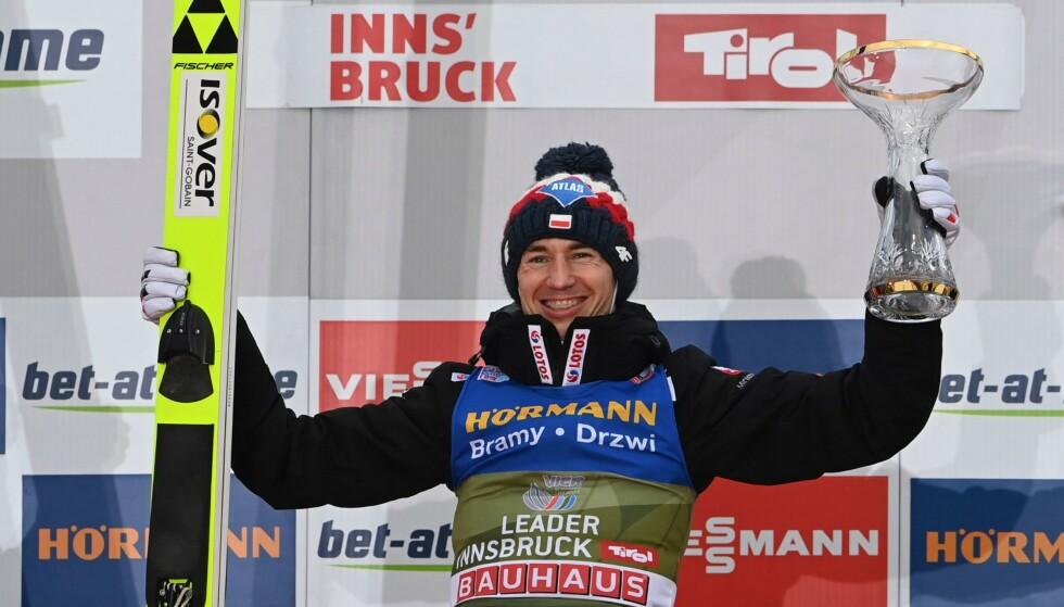 TIL TOPPS: Kamil Stoch. Foto: AFP / NTB