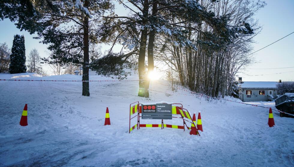 OPPDAGET SPREKKER: 15. desember gikk det ras i leiregrunn i Nannestad, knapt 15 kilometer fra ras i Gjerdrum. Ni hus ble evakuert. Foto: Øistein Norum Monsen/Dagbladet