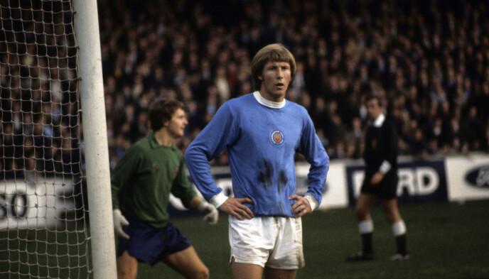 PROFIL: Colin Bell under en kamp for Manchester City i november 1970. Foto: NTB