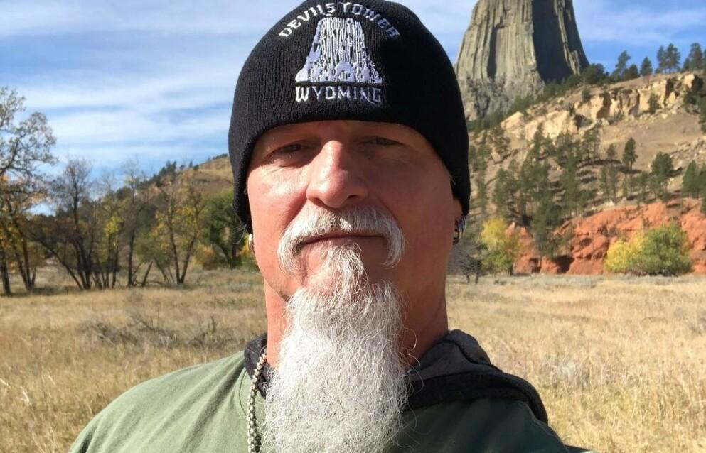 STORMET KONGRESSEN: Jon Schaffer i bandet Iced Earth ble avbildet inne i Capitol onsdag. Foto: Privat/Instagram