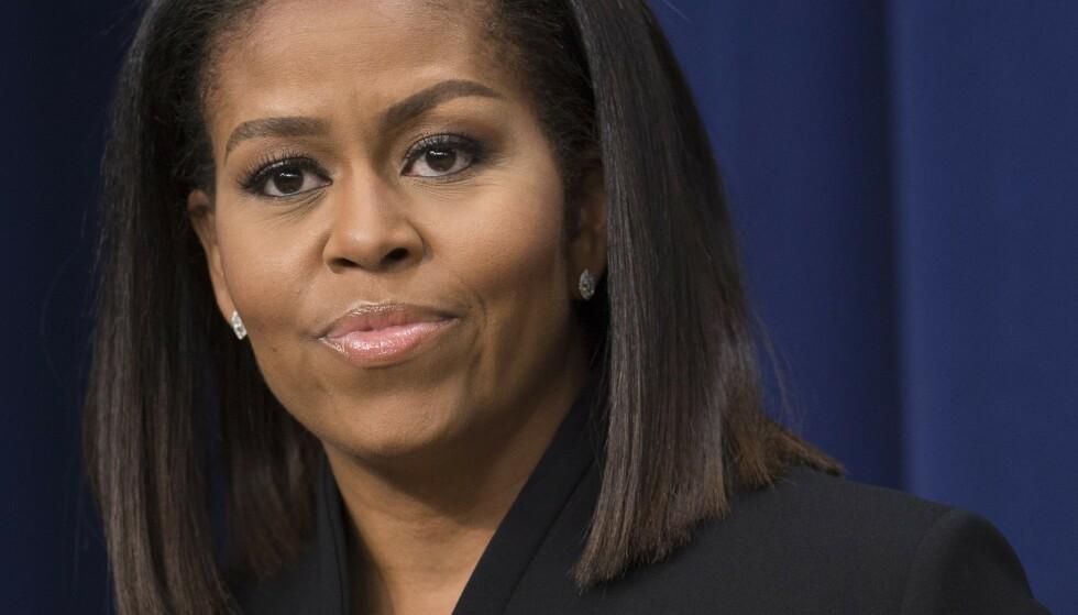 SÅRET: Michelle Obama er preget av hendelsene ved Capitol Hill onsdag. Foto: SAUL LOEB/AFP/NTB