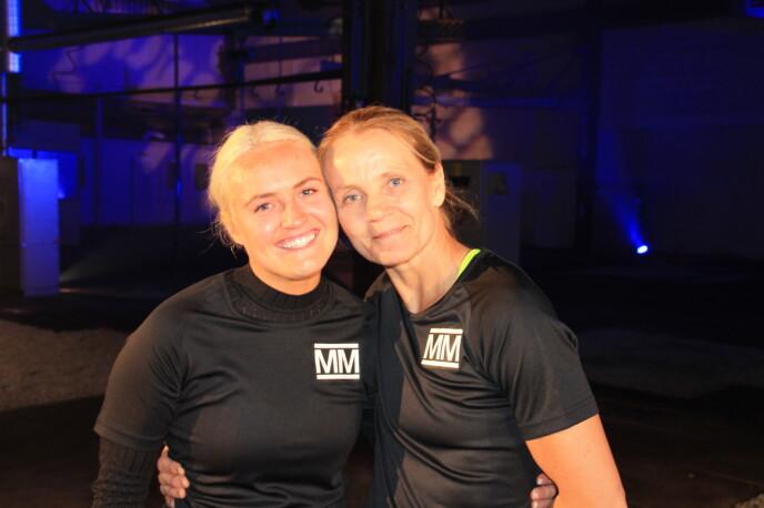 KONKURRENTER: Genette og Linda møttes i årets første nattest. Foto: Sunniva Luca Veliz Pedersen, Rubicon TV/NRK