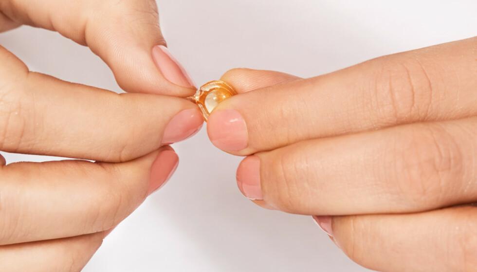 MILJØVENNLIG: Ampullene er parfymefrie, dermatologisk testet og selve kapselen er laget av 100% nedbrytbart materiale.
