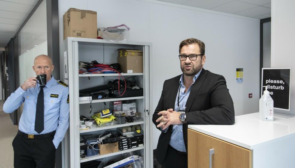 STORE PENGER: Dataangrep med påfølgende løsepengekrav har blitt big business. Nasjonalt cyberkrimsenter (NC3) i Oslo er der kampen mot nettkriminaliteten utkjempes. Foto: Lars Eivind Bones / Dagbladet