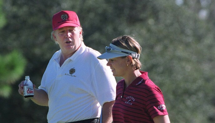 TOGETHER ON THE GOLF COURSE: Annika Sörenstam with Donald Trump in 2001. Photo: Taylor Jones / REX / NTB
