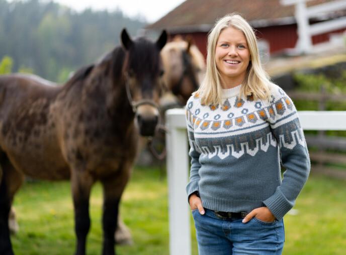 TV-KLAR: Tiril Sjåstad Christiansen er klar for sin andre runde som programleder for «Farmen kjendis», som har premiere tirsdag. Foto: Alex Iversen / TV 2