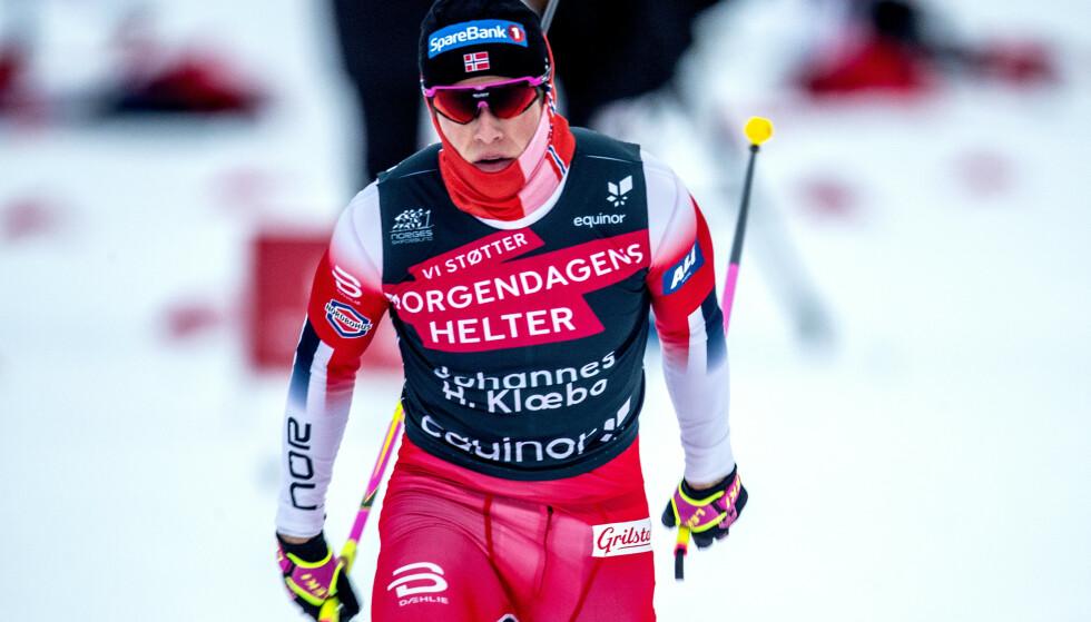 STØTTER IVERSEN: Johannes Høsflot Klæbo. Foto: Bjørn Langsem / Dagbladet