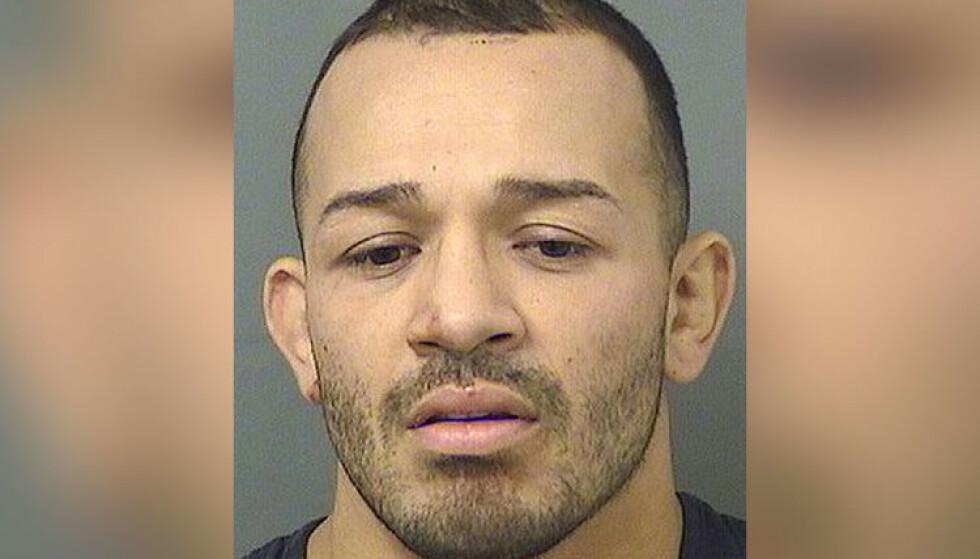I VARETEKT: Irwin Rivera sitter i politets varetekt etter det brutae knivangrepet på søstrene. Foto: Palm Beach County Sheriff's Office