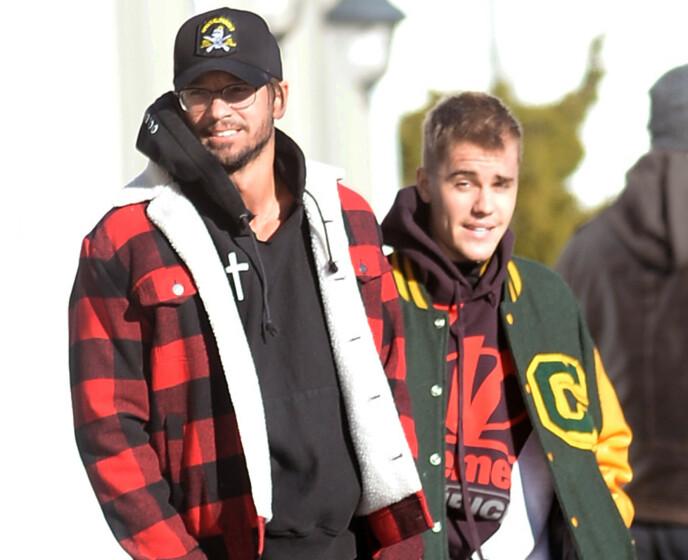 NÆRE VENNER: Carl Lentz og Justin Bieber var i flere år nære venner. De har til og med bodd sammen i perioder. Her er de i 2019. Foto: Elder Ordonez / Splash News / NTB