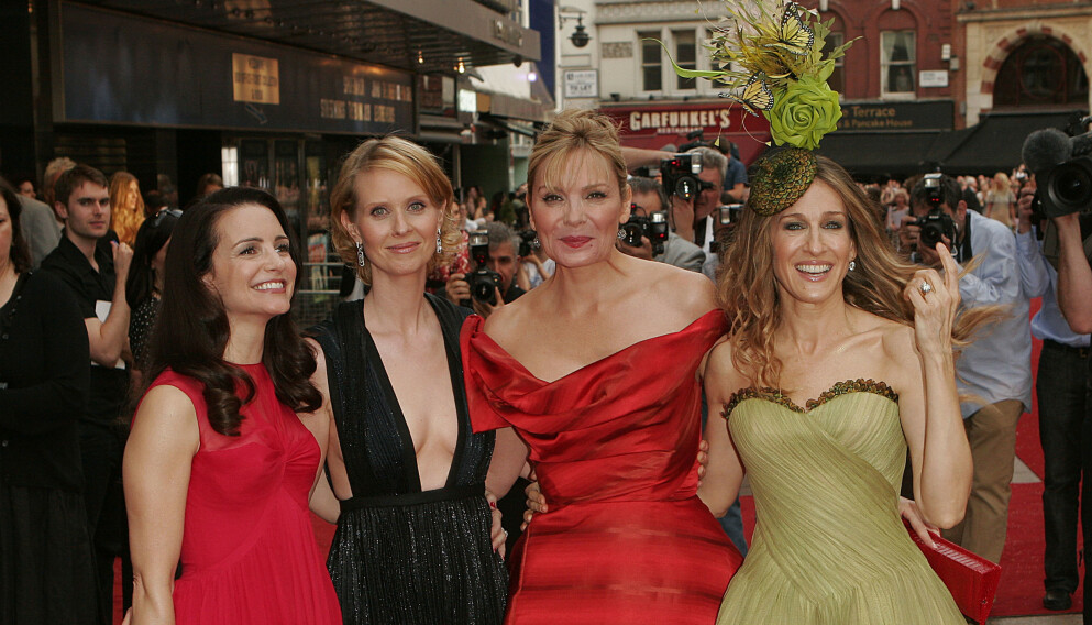 GJENFORENING: Kristin Davis (t.v.), Cynthia Nixon, Kim Cattrall og Sarah Jessica Parker. Foto: Nathan Strange / AP / NTB