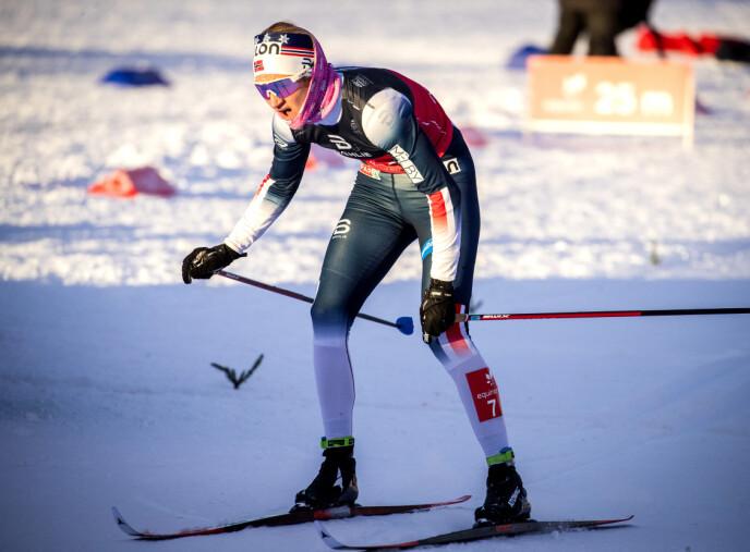 I AKSJON: Kathrine Harsem ble nummer sju på 15 kilometer klassisk fellesstart søndag. Foto: Bjørn Langsem / Dagbladet