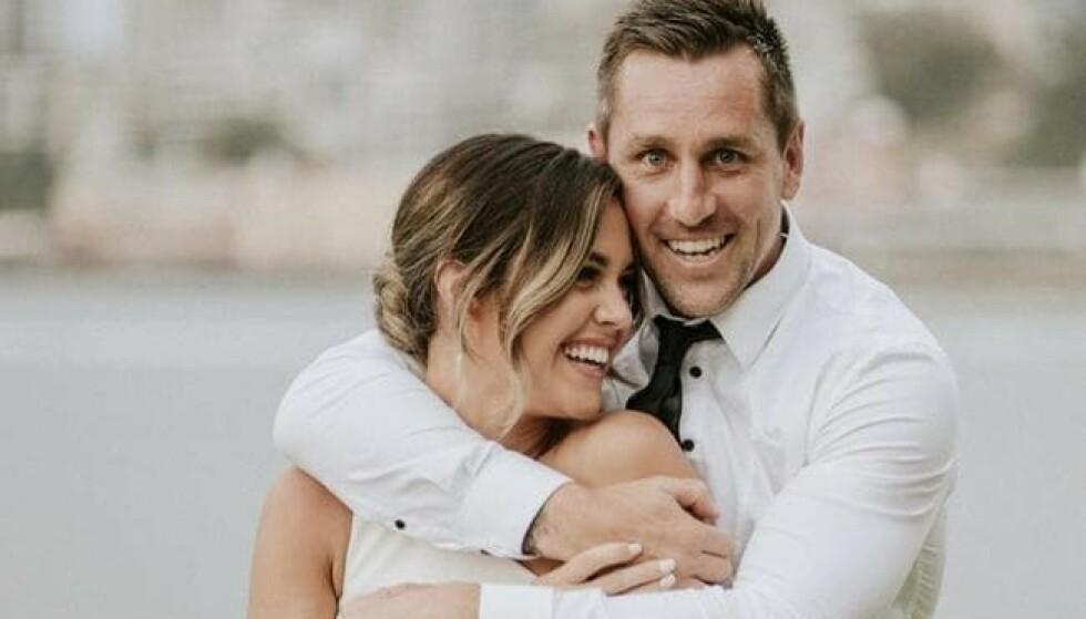 AVLYST: Kristin Scott og Mitchell Pearce avbildet i en hyggeligere sammenheng. Foto: Instagram