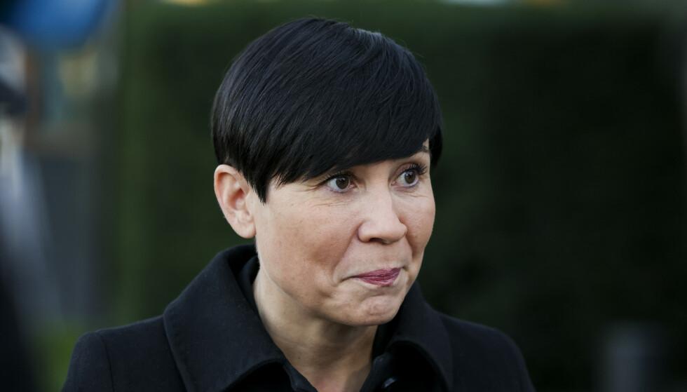 MED KRITIKK: Utenriksminister Ine Eriksen Søreide kommer med skarp kritikk mot Trump-administrasjonen. Foto: Ørn E. Borgen / NTB