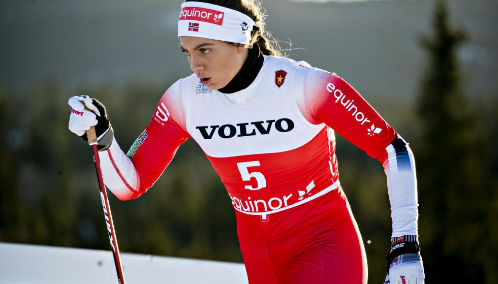 MÅ PRESTERE PÅ LØRDAG: Kristine Stavås Skistad tror hun må på pallen i lørdagens NM-sprinten om hun skal være med videre i VM-diskusjonen. Foto: Bjørn Langsem / Dagbladet