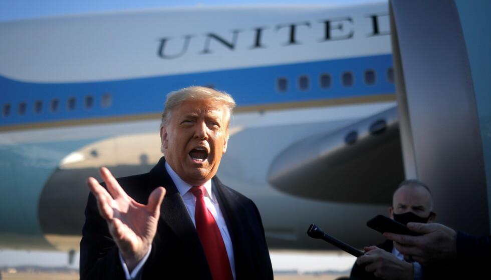 AVSKJEDSTUR: Donald Trump besøkte grensa til Mexico tirsdag. Foto: Reuters /NTB