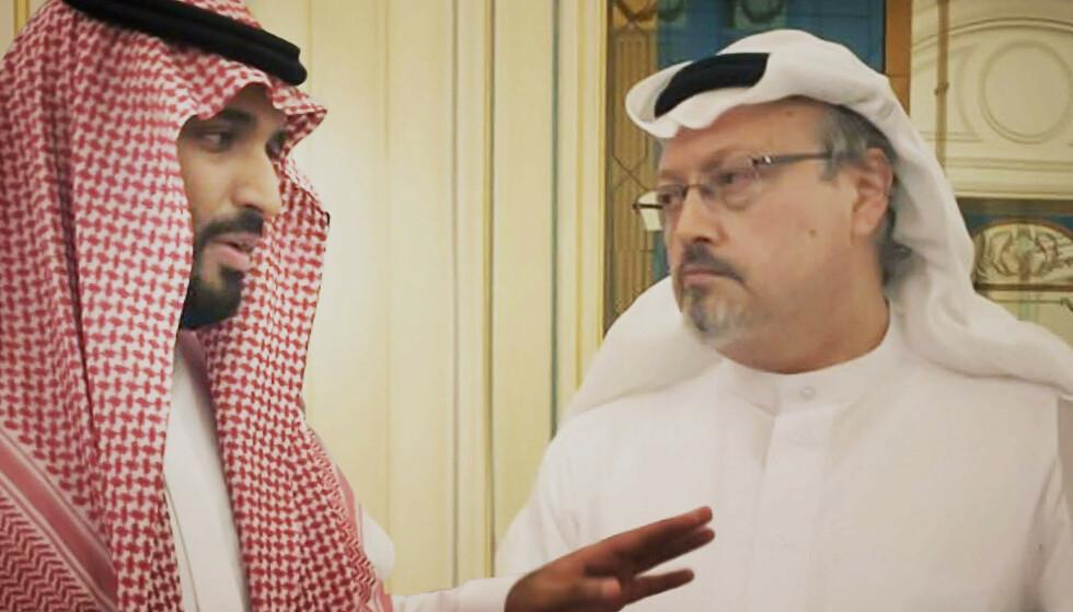 NEKTER ANSVAR: Saudi-Arabias ambassadør sier de skyldige i drapet på journalist Jamal Khashoggi (t.h.) er dømt. Foto: Briarcliff/AP/NTB