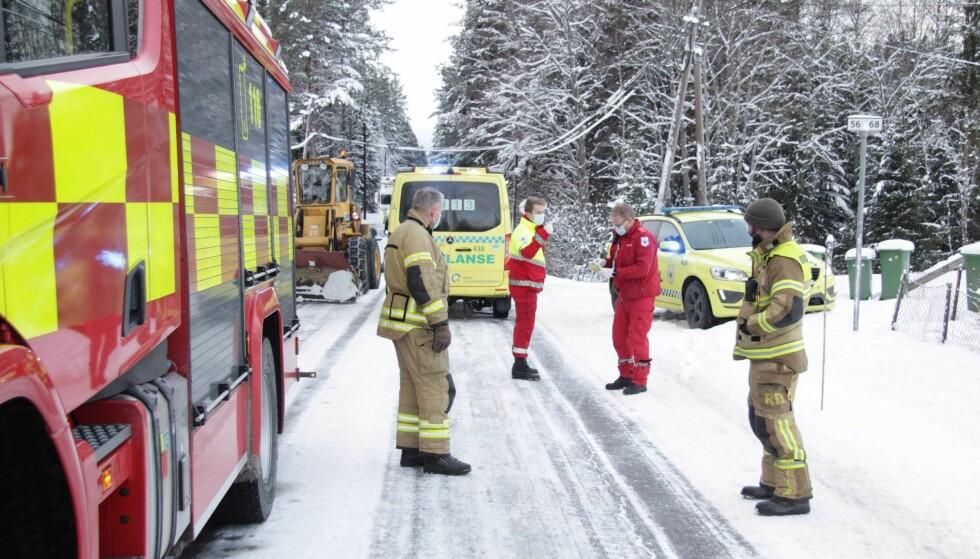 ULYKKE: Den ene av guttene skal ha fått bruddskader i påkjørselen. Foto: Martin Bendikt Sjue / Dagbladet