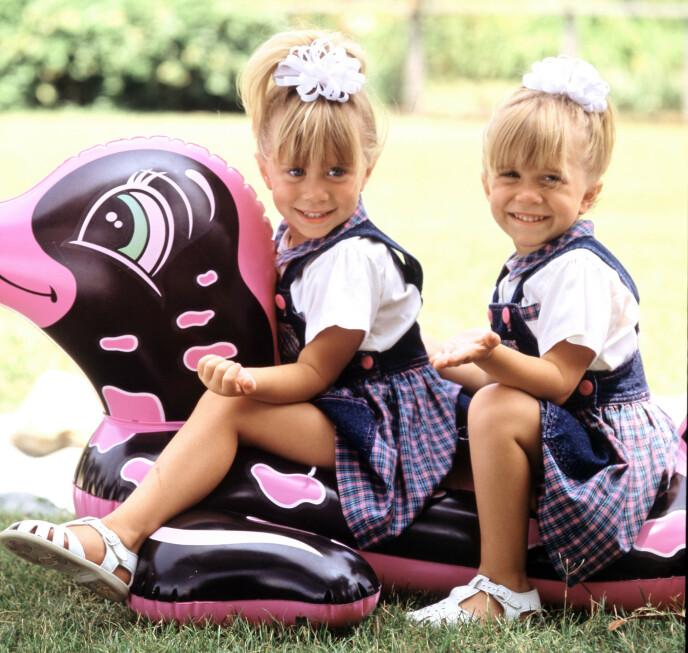BARNESTJERNER: Ashley og Mary-Kate i forbindelse med «Full House» i 1989. Foto: Lorimar / Warner Bros /Kobal / REX / NTB