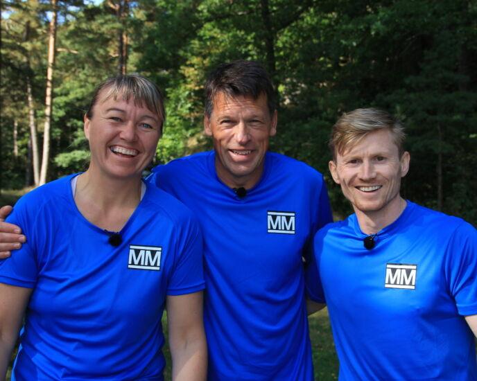 IDRETTSSTJERNER: Cecilie Leganger, Johann Olav Koss og Magnus Midtbø. Foto: Sunniva Luca Veliz Pedersen, Rubicon TV/NRK