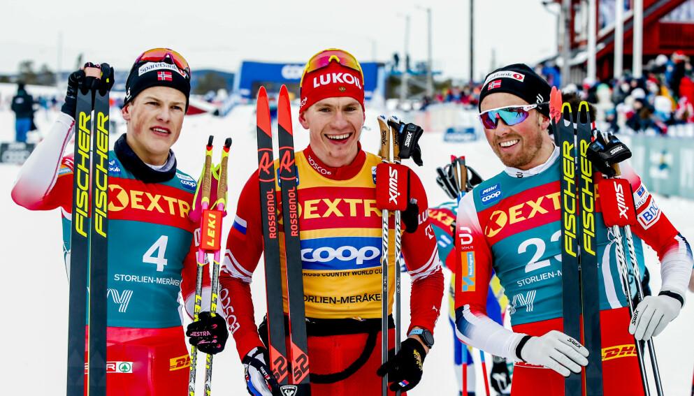 KRYPTISK: Aleksandr Bolsjunov er selv kryptisk med tanke på et bytte til skiskyting. Foto: Terje Pedersen / NTB