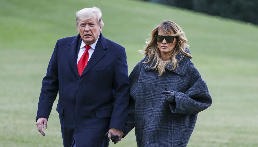 TRUMPS FERIESTED: President Donald Trump planlegger å flytte til Mar-a-Lago i Florida, ifølge nyhetsbyrået Bloomberg. Her sammen med førstedame Melania Trump. Foto: AP/NTB.