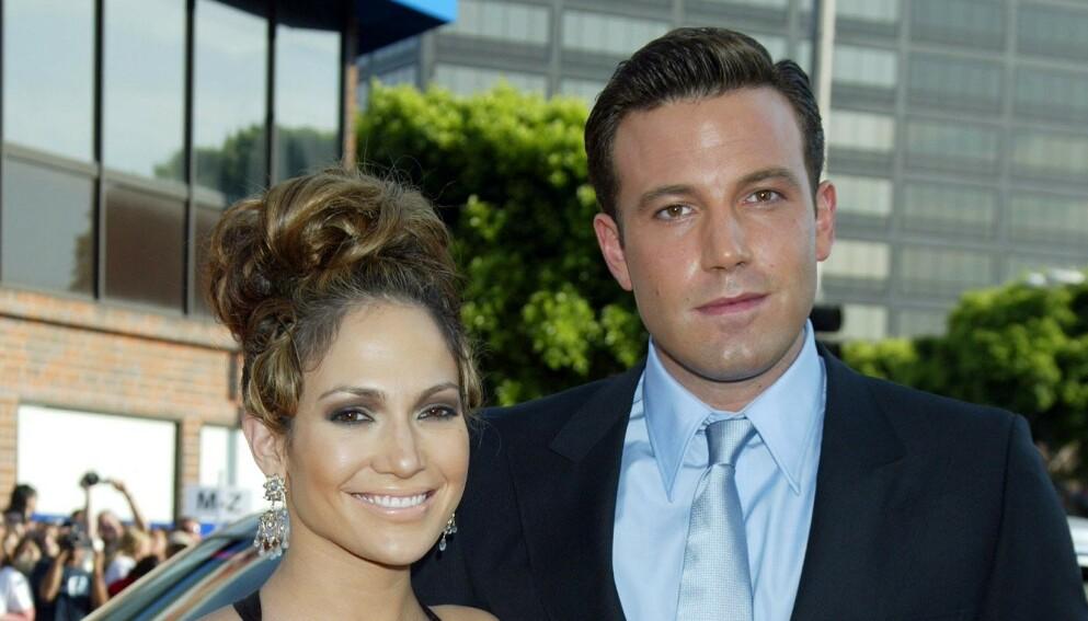 ROSER: Superstjernene Jennifer Lopez og Ben Affleck var et av Hollywoods hotteste par fra 2002 til 2004. Nå skryter Affleck uhemmet av Lopez. Foto: Jim Smeal / BEI / REX